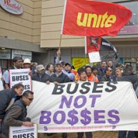Bus drivers' rally Auckland
