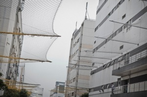 Foxconn has installed nets around its factory to catch working jumping off the roof