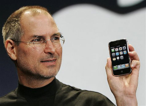The late Apple Inc CEO Steve Jobs