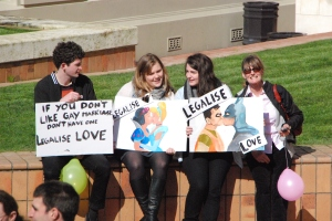 Equal marriage rally in Wellington
