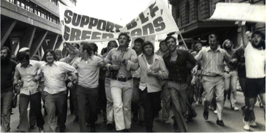 gave rise to the gay liberation movement and the first-