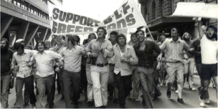 Builders Laborers Federation conducted green bans in support of gay liberation