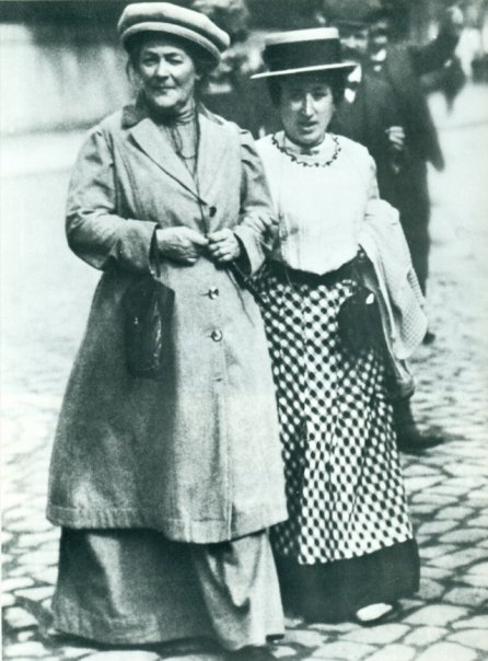 Socialists Rosa Luxemburg and Clara Zetkin.