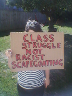 class struggle not racist scapegoating chch