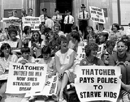 kids at miners strike