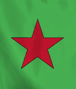 green red star