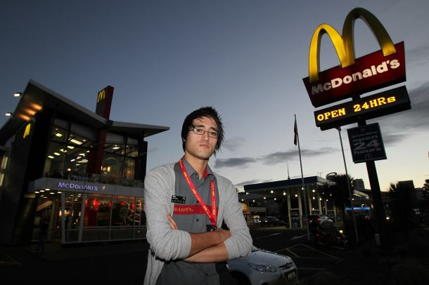 Sean Bailey, who faced homophobia at Quay St McDonalds, Auckland