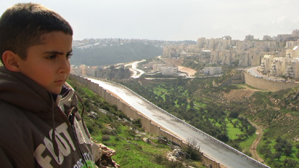 Director Emad Burnat's son Gibreel, featured in the documentary.