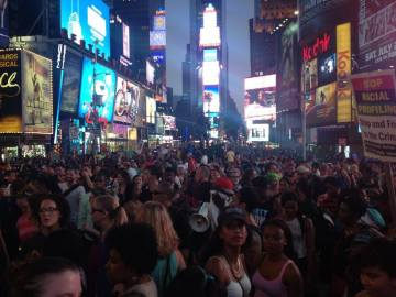 times square zimmerman acquittal rally