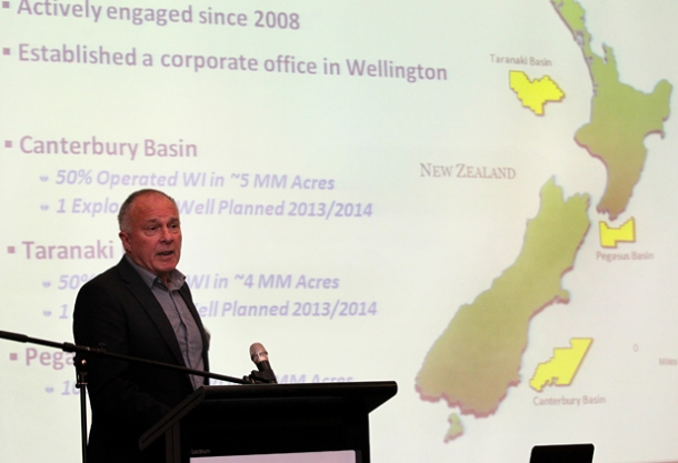 Anadarko New Zealand corporate affairs manager Alan Seay