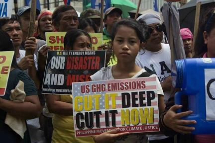 Philippines climate justice protest