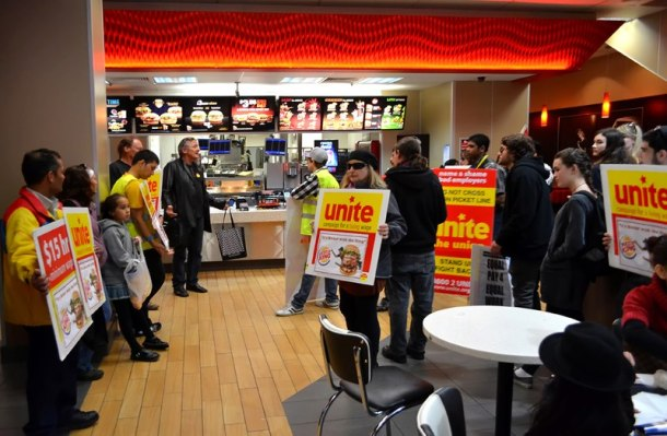"Unite Burger King occupation: ""Burger King has always remained to be the fast food company which pays the lowest wages."""