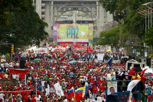 Venezuela: March in support of Bolivarian revolution
