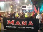 MANA at a 2013 McStrike against zero-hour contracts and poverty wages.