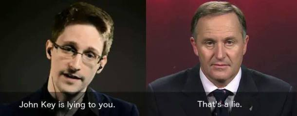 snowden key lying lie