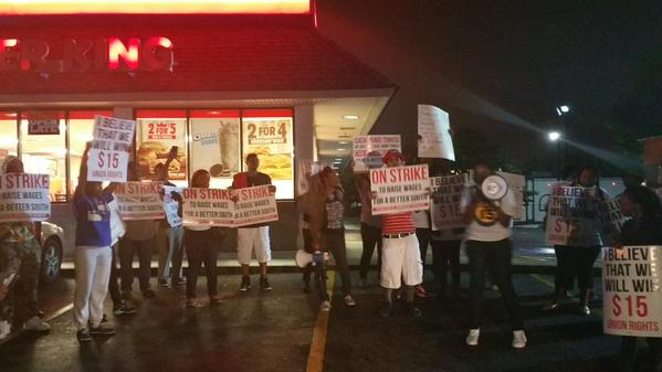 fast food global strike atlanta