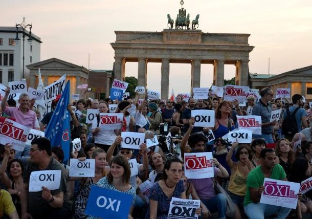 Oxi Nein: German solidarity with Greek 'Oxi' vote against austerity.