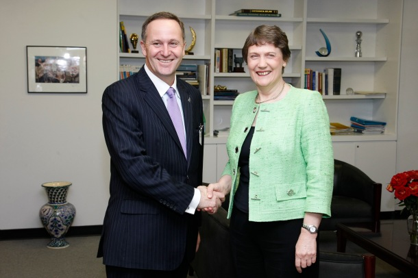 UNDP Ms. Helen Clark meeting with New Zealand Prime Minister John Key